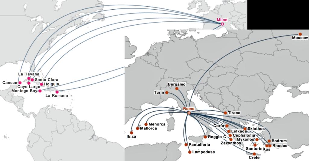 Если вы готовы ехать в Милане из одного аэропорта в другой - летите на Карибы с Blue Panorama. Не готовы - на Средиземном море тоже хорошо.
