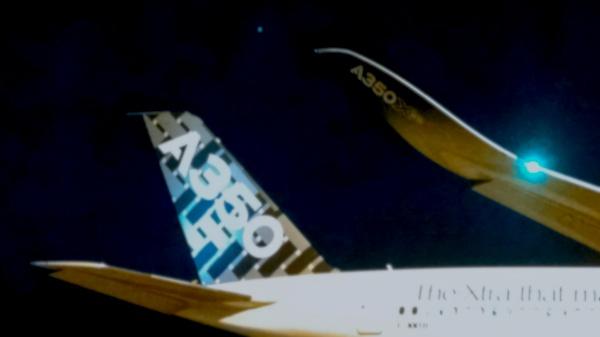 A350 XWB отличается весьма характерными винглетами