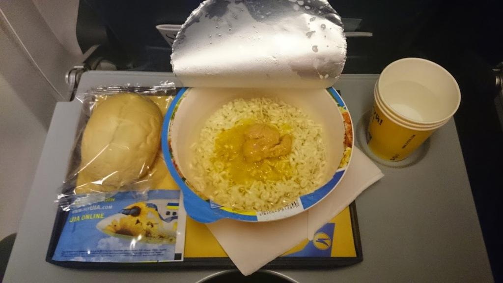 Лапша на борту МАУ за 4 евро
