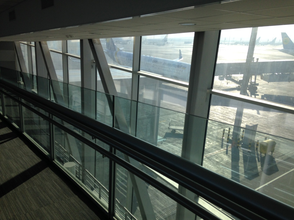 Самолёт МАУ в аэропорту Киева