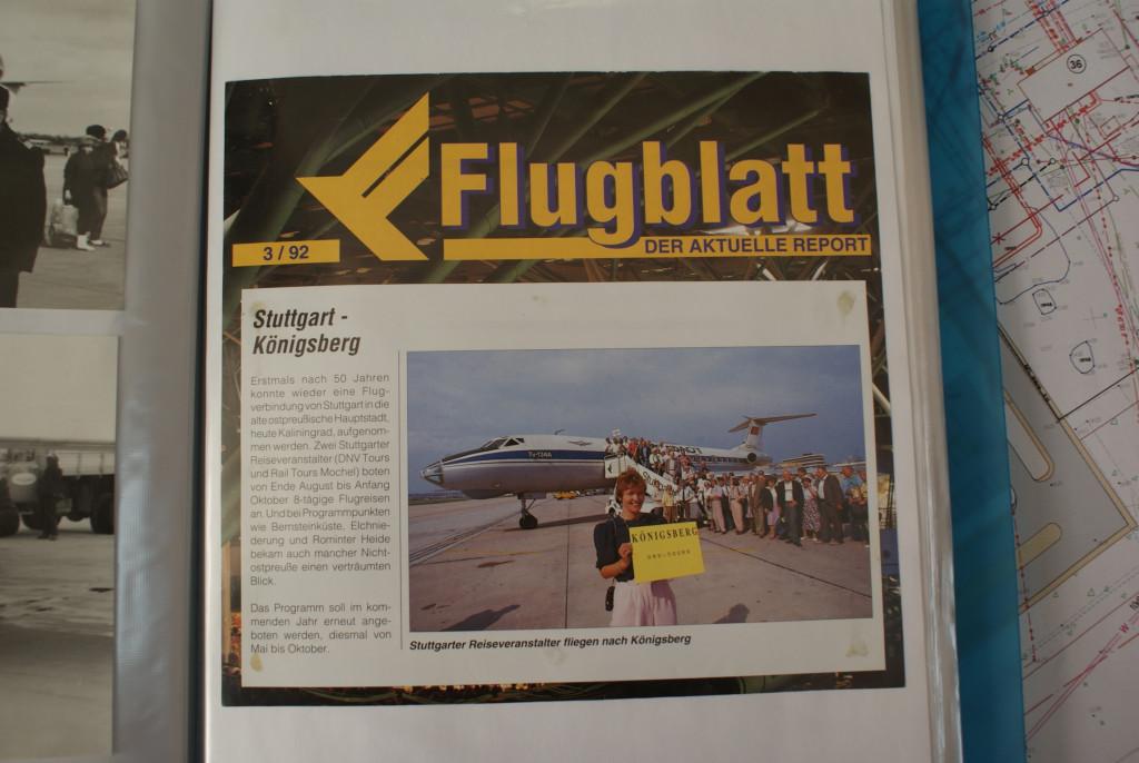 В начале 90-х аэропорт Храброво стал международным, немцы стали летать на экскурсии в #Кенигсбергнаш