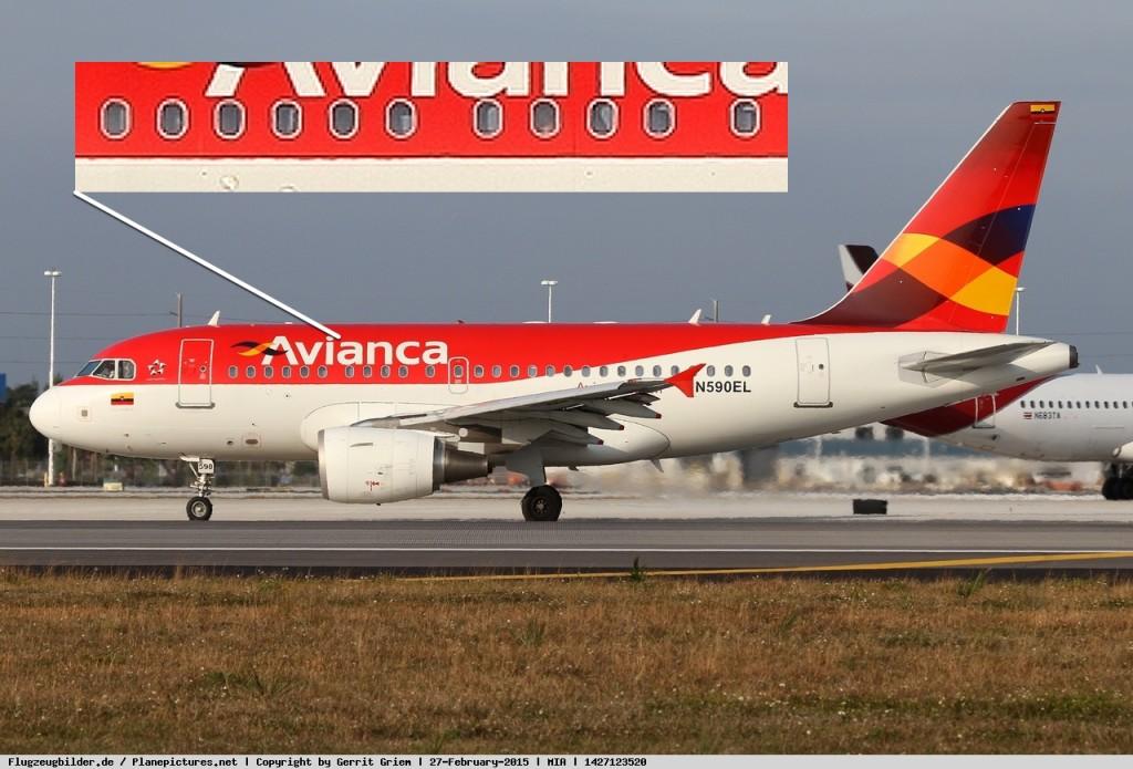 Маленький A318 от A319 можно отличить, посчитав иллюминаторы. Должно быть 11.