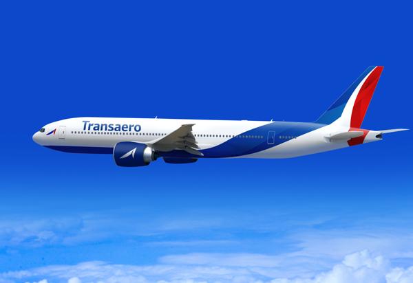 Концепт дизайна Трансаэро, предложенный в 2013 году. Кликните, чтобы увидеть больше изображений.