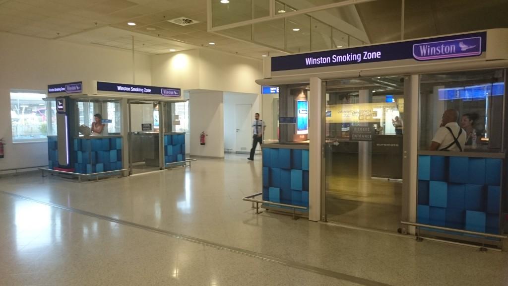 Места для курения в аэропорту Афин