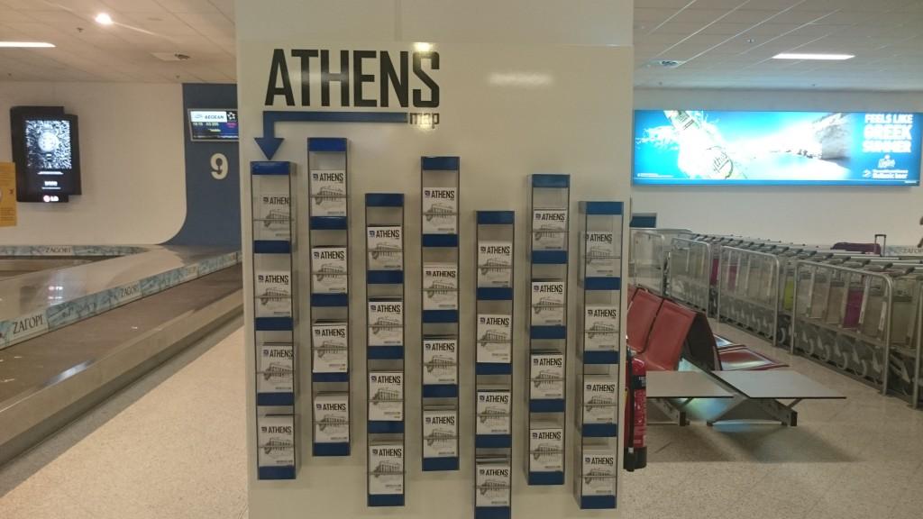 Бесплатные карты Афин в зоне выдачи багажа