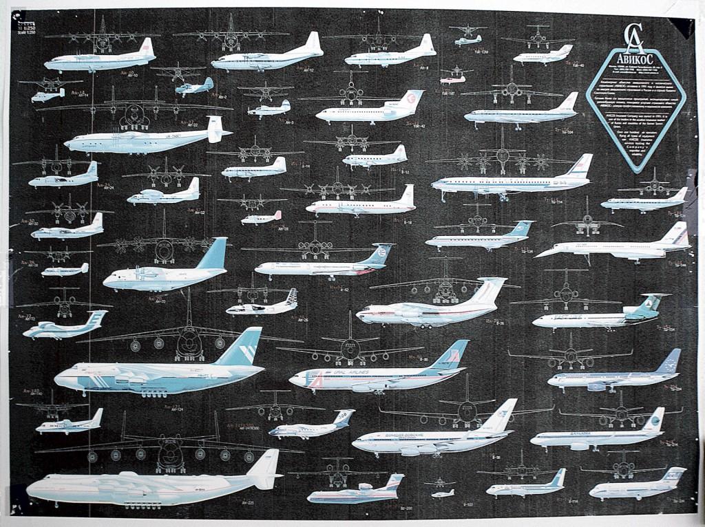 Обязательные плакаты с разными типами самолетов